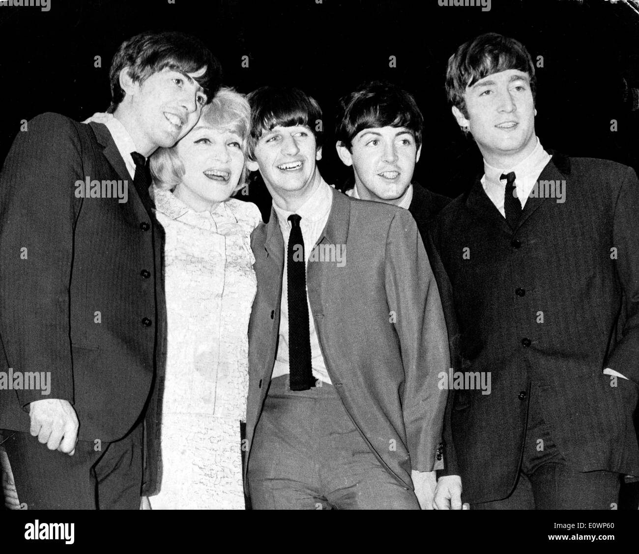 Marlene Dietrich meets the Beatles - Stock Image