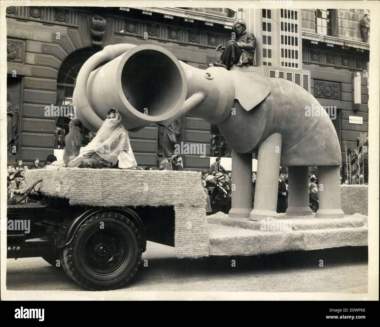 Nov. 10, 1963 - Elephant Trollope Colls Ltd. Lord Mayor's Show in the City of London. - Stock Image
