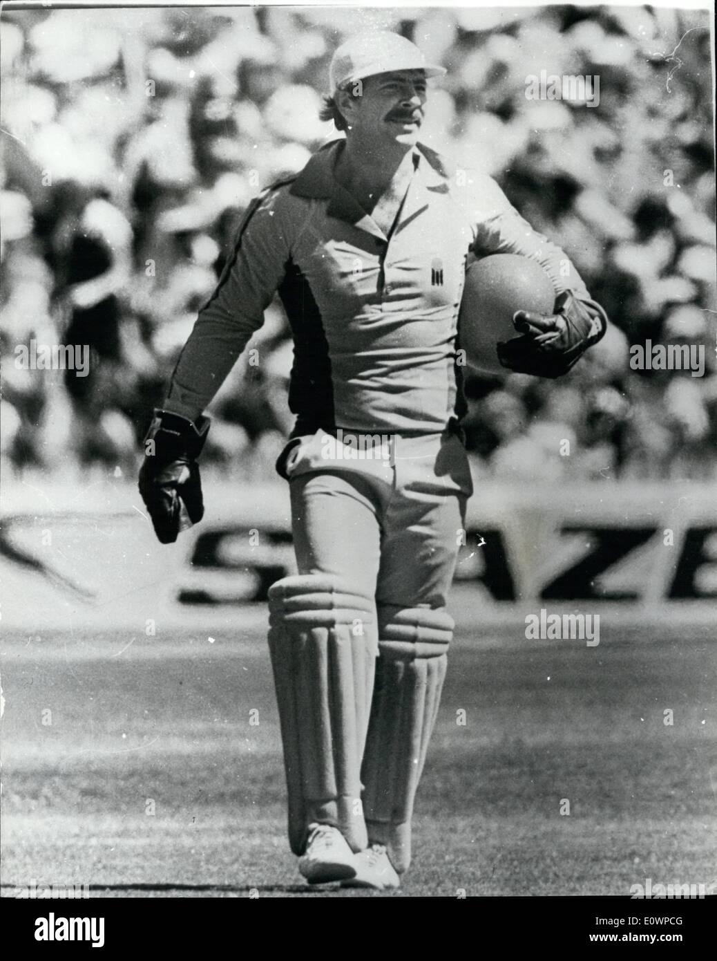 Jan. 01, 1964 - Howzat; Greg Chappell, the Australian Captain, had a good green of an inflation, when he lunged to his right to - Stock Image