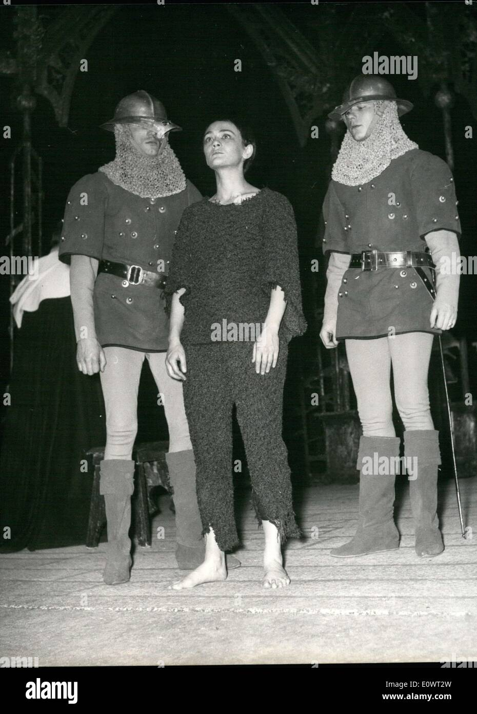 Apr. 04, 1964 - At the Monparnasse-Gaston Bati Theatre, they are restaging George Bernard Shaw's ''Saint - Stock Image