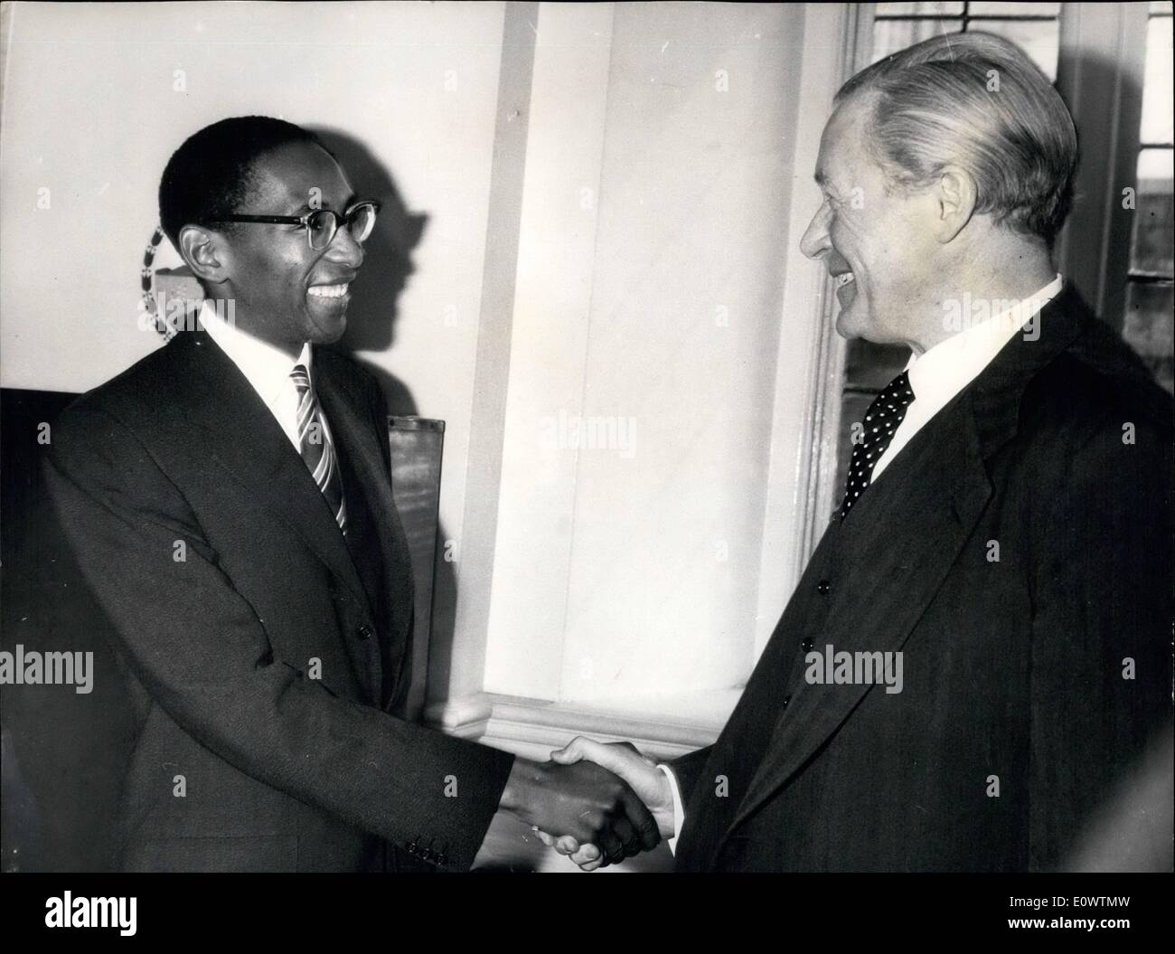 Apr. 04, 1964 - Basutoland Talks Open In London: Talks on the Constitution of the African Basutoland have opened - Stock Image