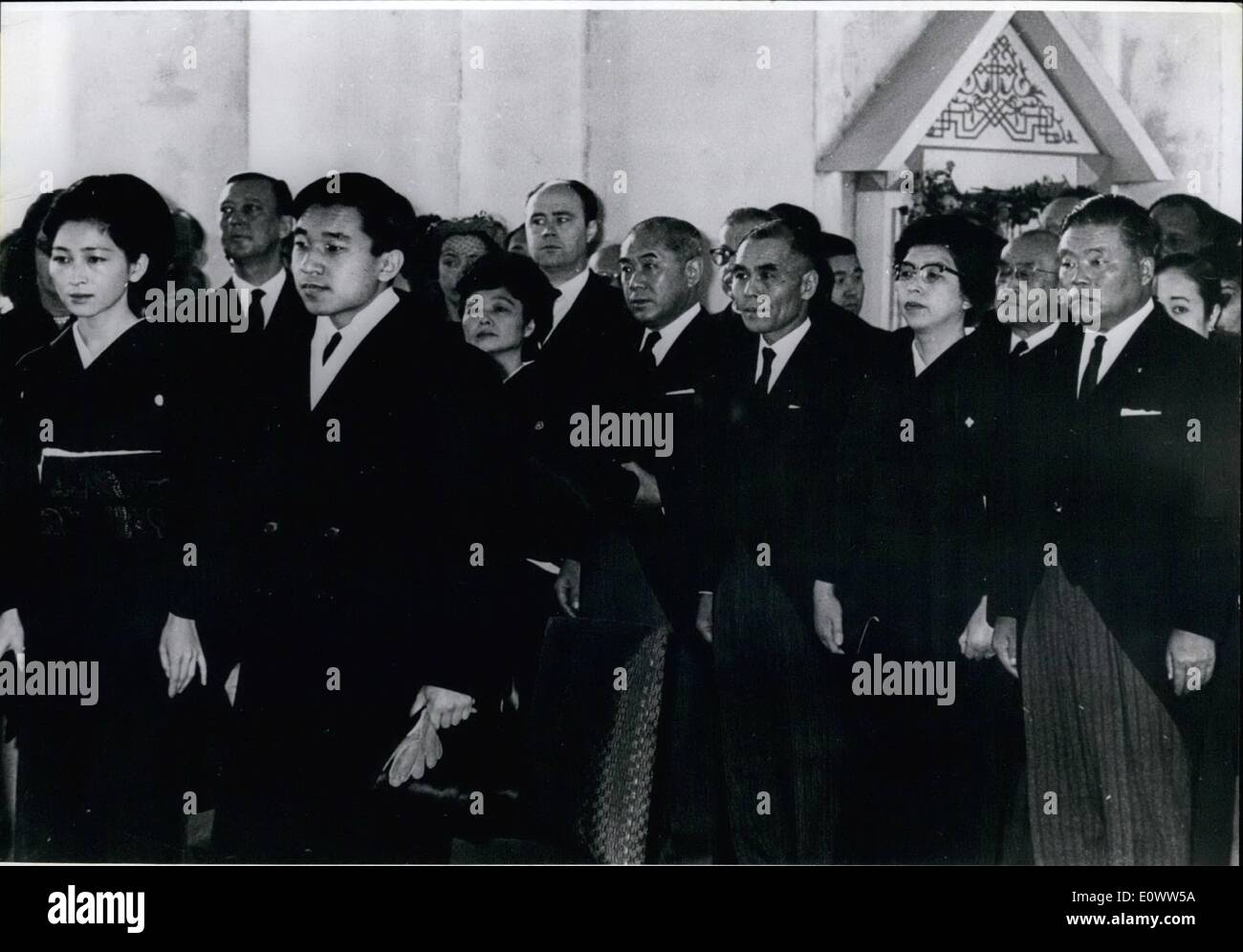 Mar. 03, 1964 - Crown Princess Michiko and Crown Prince Akihito in left foreground and other prominent Japanese Stock Photo