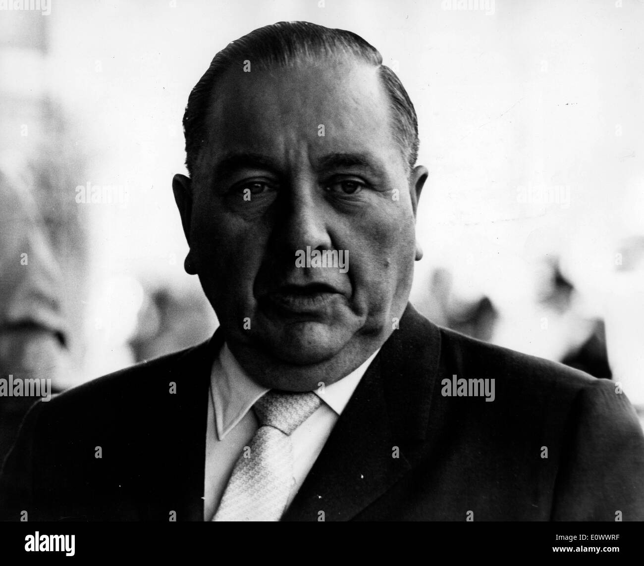 Mayor of Chicago Richard J. Daley visits London - Stock Image