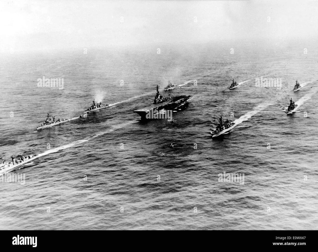 Vessels headed to fight in Gulf of Tonkin - Stock Image