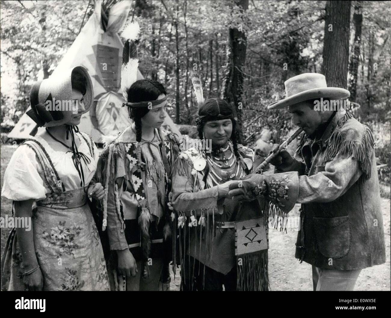 May 16, 1964 - Cowboys and Indians in France - Stock Image