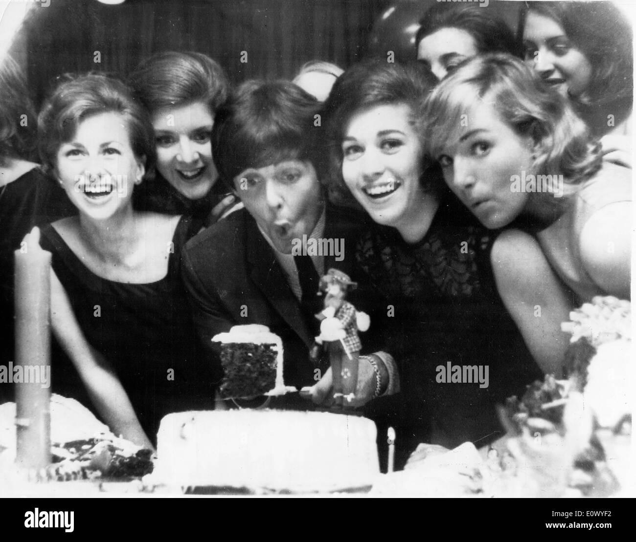 The Beatles Paul McCartney Blowing Out His Candles