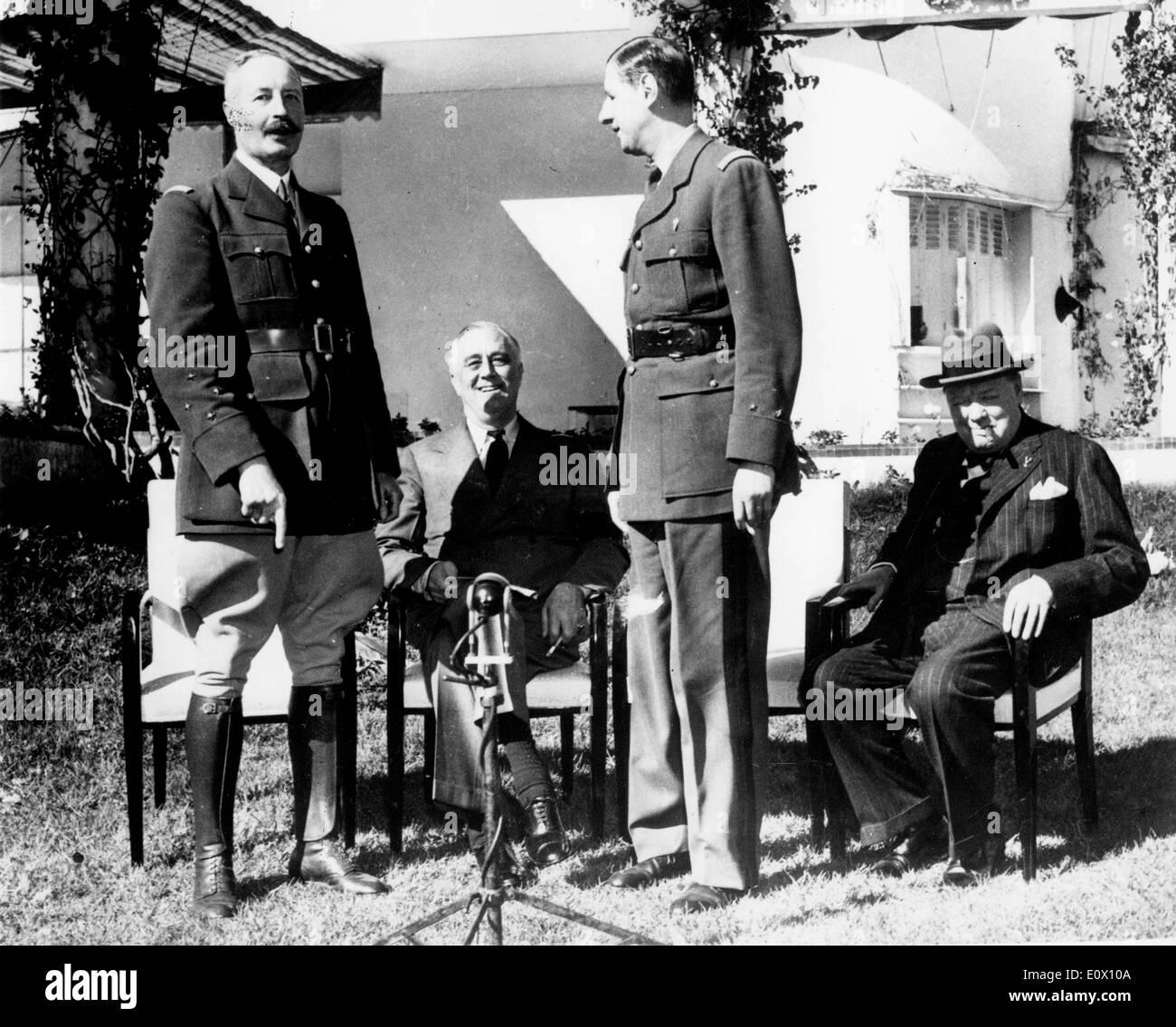 1943 Casablanca Conference - Stock Image