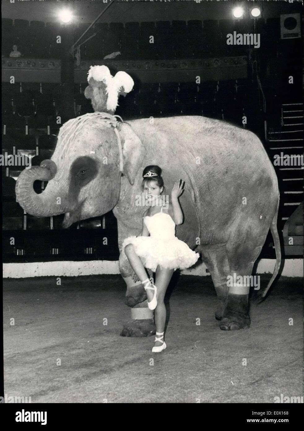 Dec. 01, 1964 - Angelica Buckler with Jumbo the Elephant Stock Photo