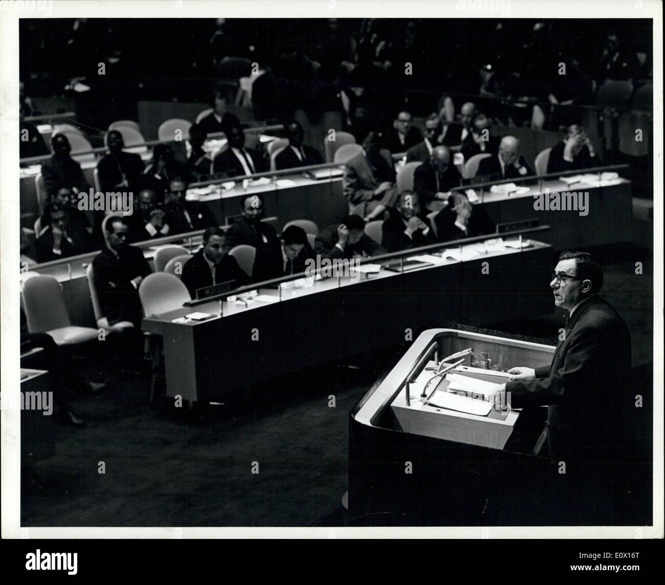 Dec. 07, 1964 - Nineteenth General Assembly continues its General debate; The Foreign Ministers of the Soviet Union, Argentina, - Stock Image