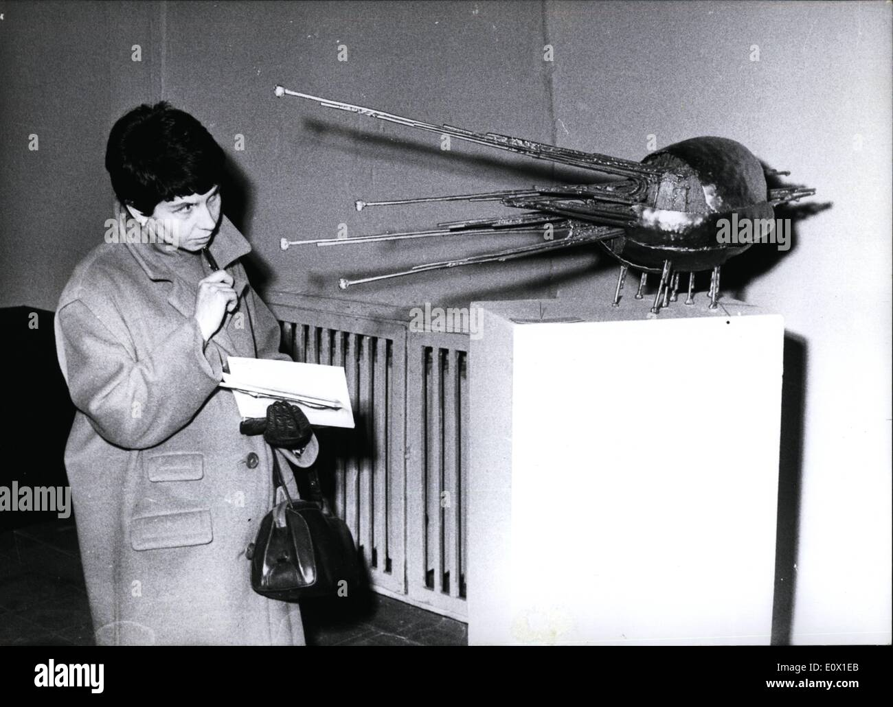 Dec. 12, 1964 - Take care! Insect-bites! ''Insect'' Peter Konitz calls this metal-sculpture presented at the yearly ''General-Show of the Artists from Nordrhein-Westfalen'', which takes place at present at the ''Kunstpalast'' (Palace of Art) in Düsseldorf. - Stock Image