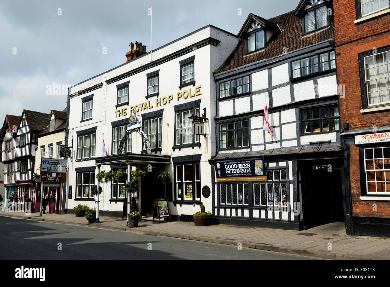 The Royal Hop Pole public house on Church Street in Tewkesbury, Gloucestershire, England - Stock Image