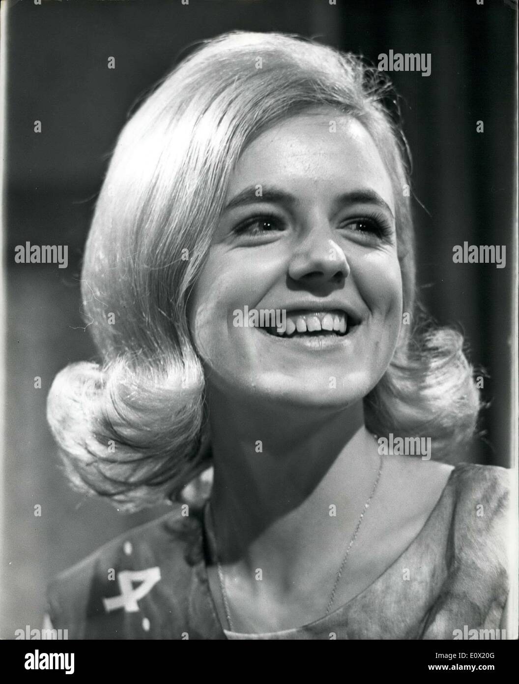 Dec. 15, 1964 - Judi Wins ''Search For A Star'' Contest.. Eighteen year old Judi Johnson - was judged as the winner of the Commercial TV contest called ''Search for a star''.. Judi left school to go on the stage - but the nearest she got to fame was when she made a pop record ''My Baby's Face'' - which according to Judi - was a ''complete disaster''... The contest, which lasted 12 weeks - was between 144 girls aged 16 - 23. - Stock Image