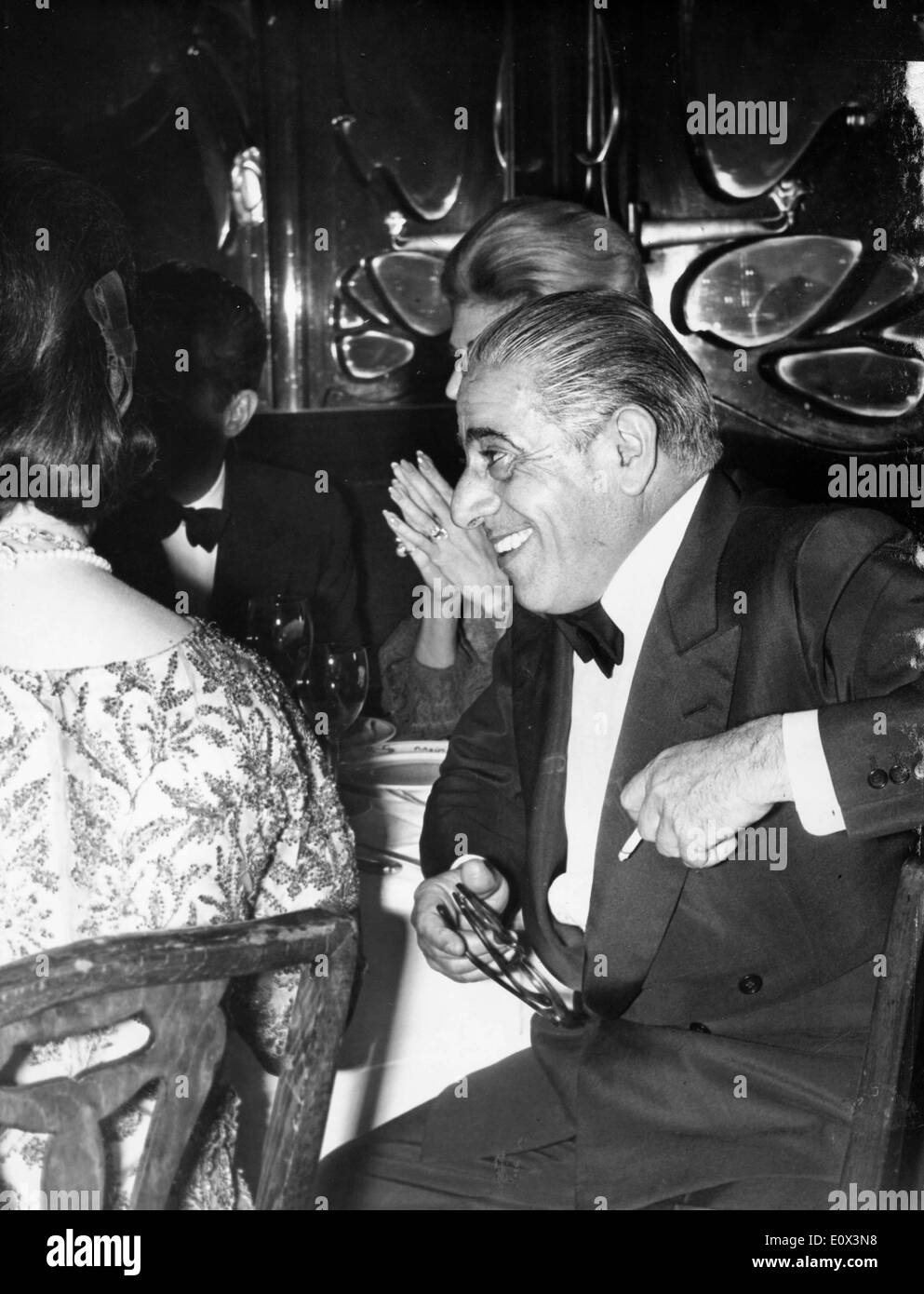 Aristotle Onassis at the 'Zorba the Greek' premiere - Stock Image