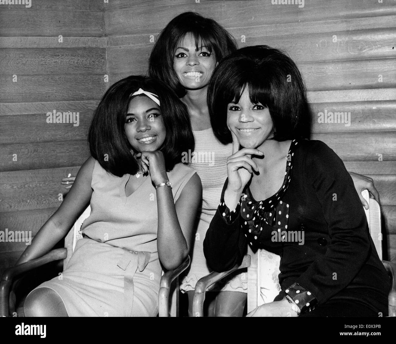 The Supremes, Florence Ballard, Mary Wilson and Diana Ross Stock Photo