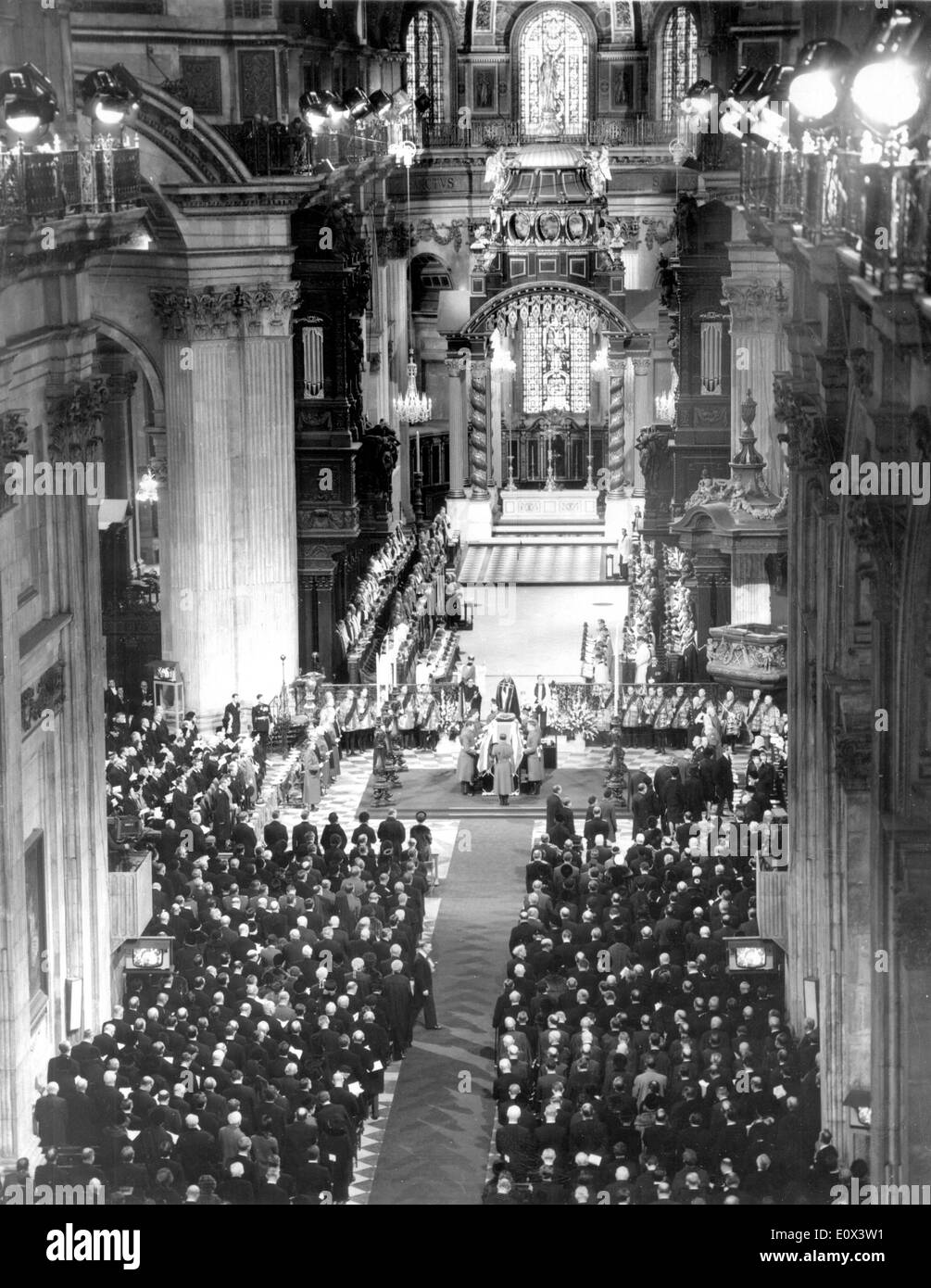 Funeral of Sir Winston Churchill - Stock Image