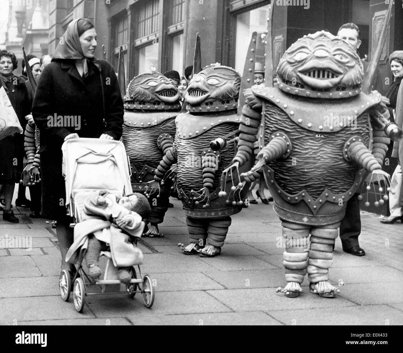 Invasion of the Martians on Regent Street - Stock Image