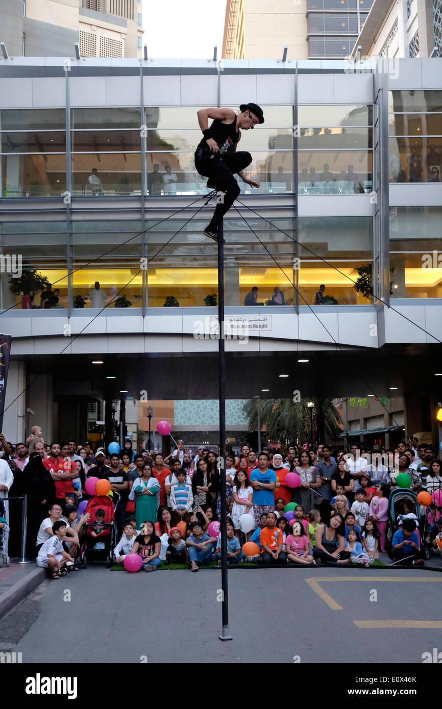 Dub Fest 2014 international street and comedy festival at Al Ghurair in Dubai United Arab Emirates - Stock Image