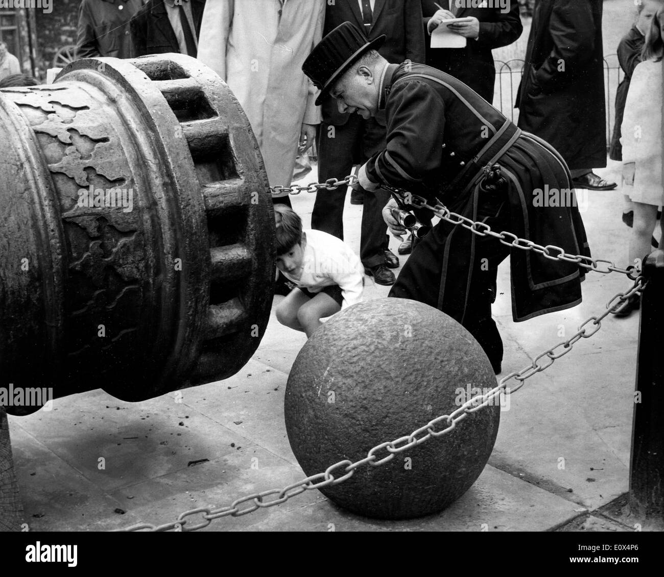 John Kennedy Jr. playing at Tower of London - Stock Image