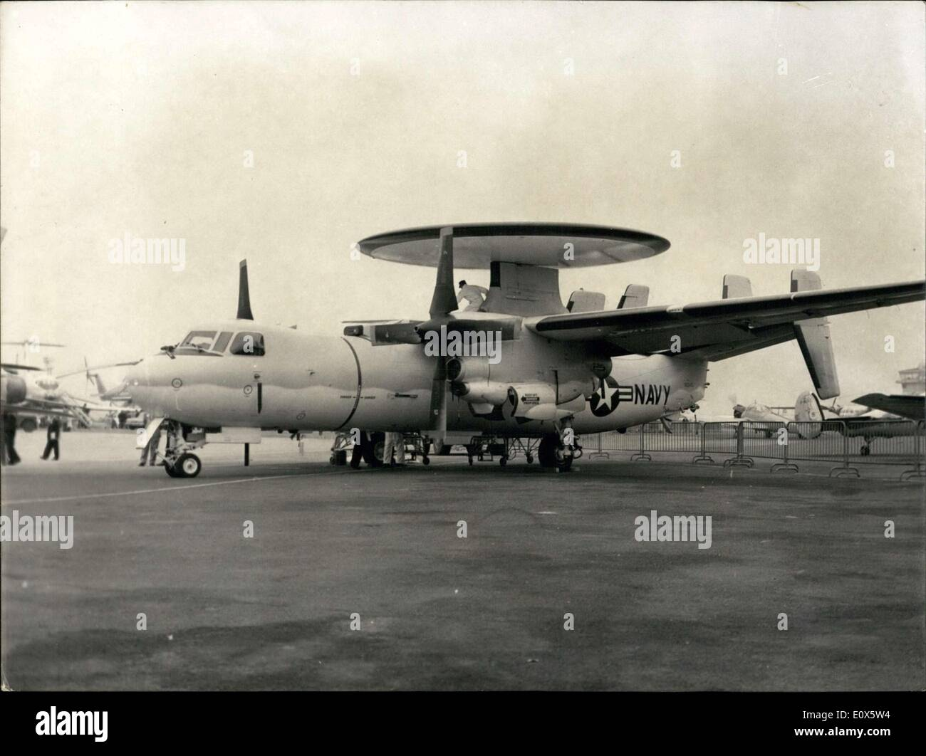 Jun. 10, 1965 - The ''Hawkeye'' E-2A at the Aeronautic and Space Show in Bourget - Stock Image