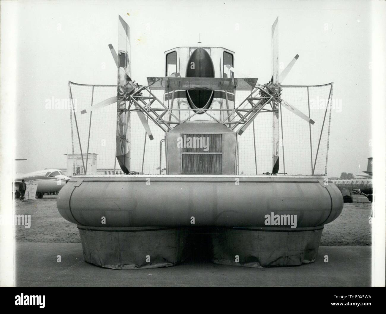 Jun. 11, 1965 - 26th Aeronautic and Space Expo Features Hovercraft - Stock Image