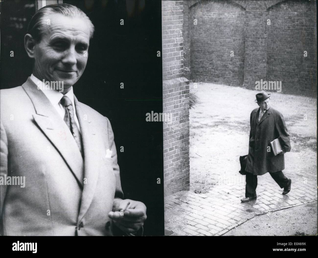 Jul. 07, 1965 - At Present before the count: is the former General Major Remer in Oldenburg. On July 20th 1944 he Stock Photo