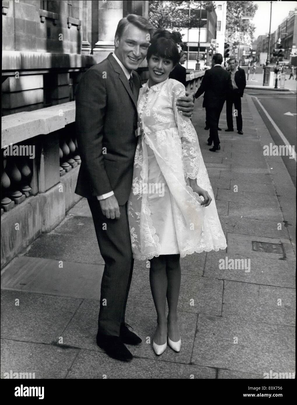Jul. 07, 1965 - Singer Frank Ifield Weds: Popular singer Frank Ifield was married at Marylbone Register office earlyStock Photo
