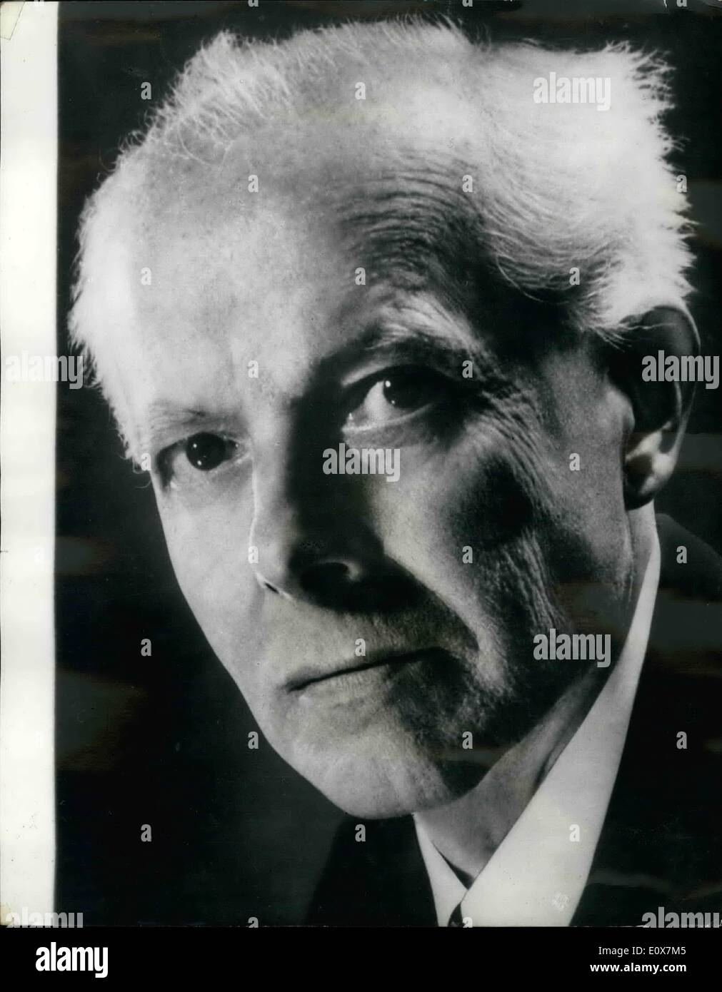 Sep. 09, 1965 - 20th, Anniversary of Death of Bela Bartok; Bela Bartok, the great Hungarian composer and folkorist and outstanding figure of the music art of the 20th. century died 20 years ago on September 26th, 1945, in New York. He was born in 1881. Photo Shows Bela Bartok, The 20th anniversary of his death is on Sept. 26th. - Stock Image