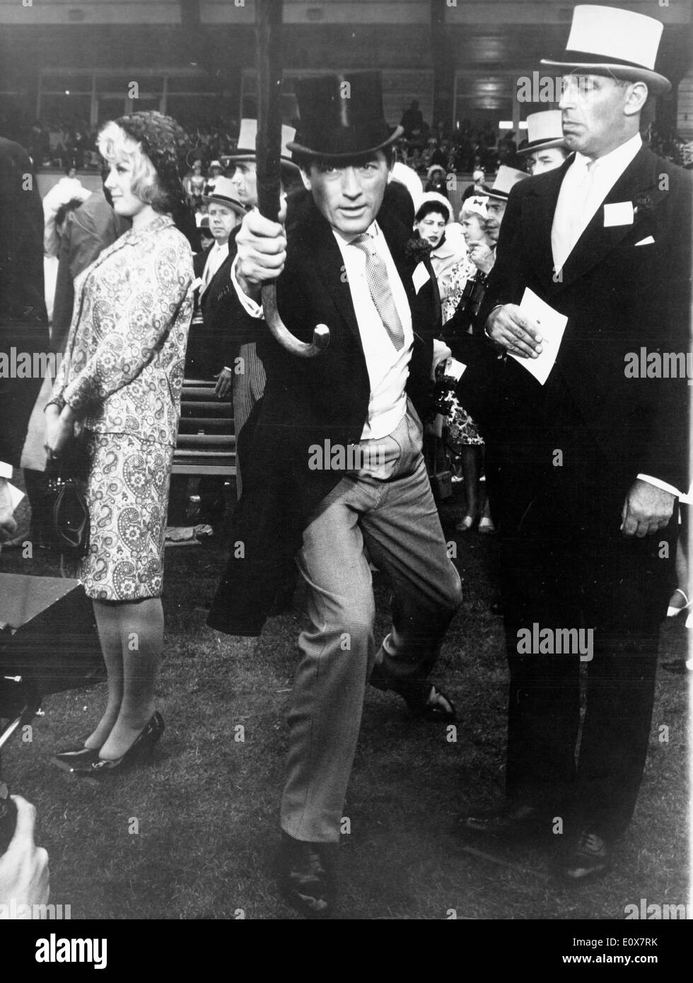 Actor Gregory Peck filming 'Arabesque' - Stock Image