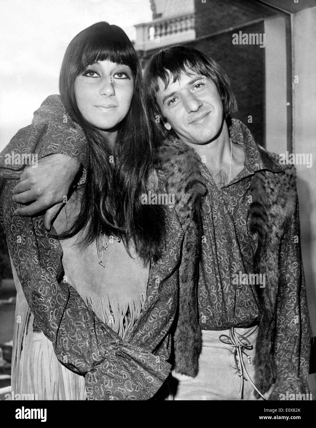 Husband and wife singing duo Sonny & Cher - Stock Image