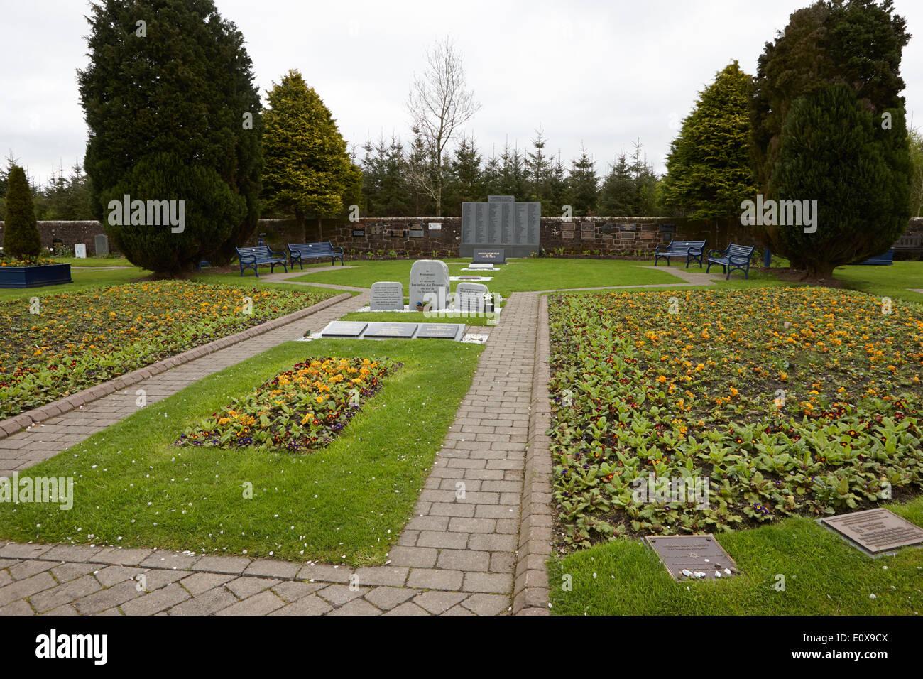 Lockerbie air disaster memorial dryfesdale cemetery Scotland UK - Stock Image