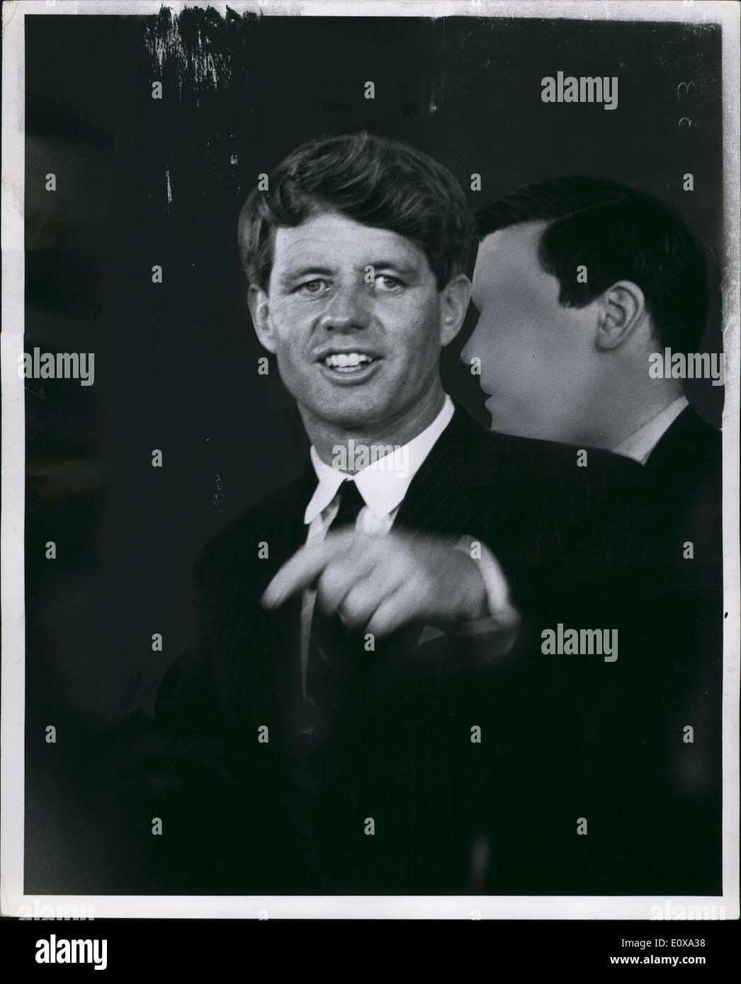 Dec. 00, 1966 - RFK at Samuel Silverman campaign. New York 1966. - Stock Image