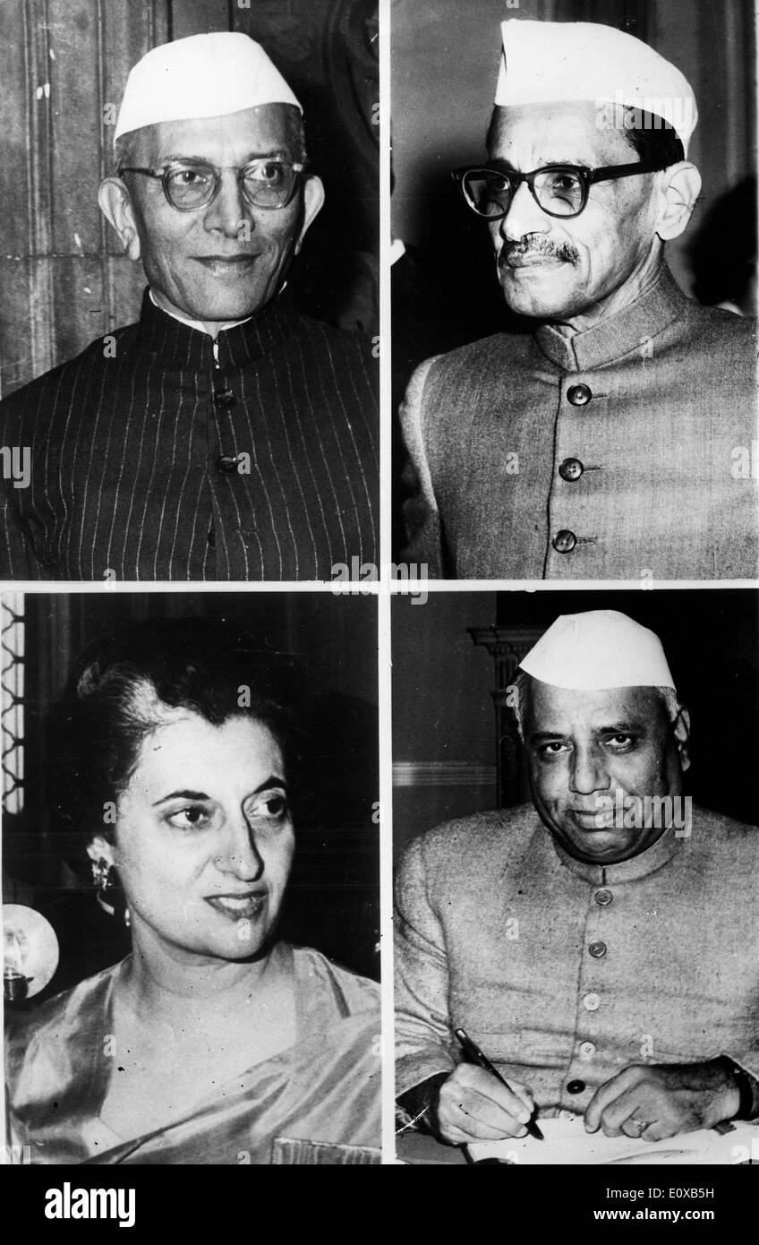 Four possible successors for Prime Minister of India - Stock Image