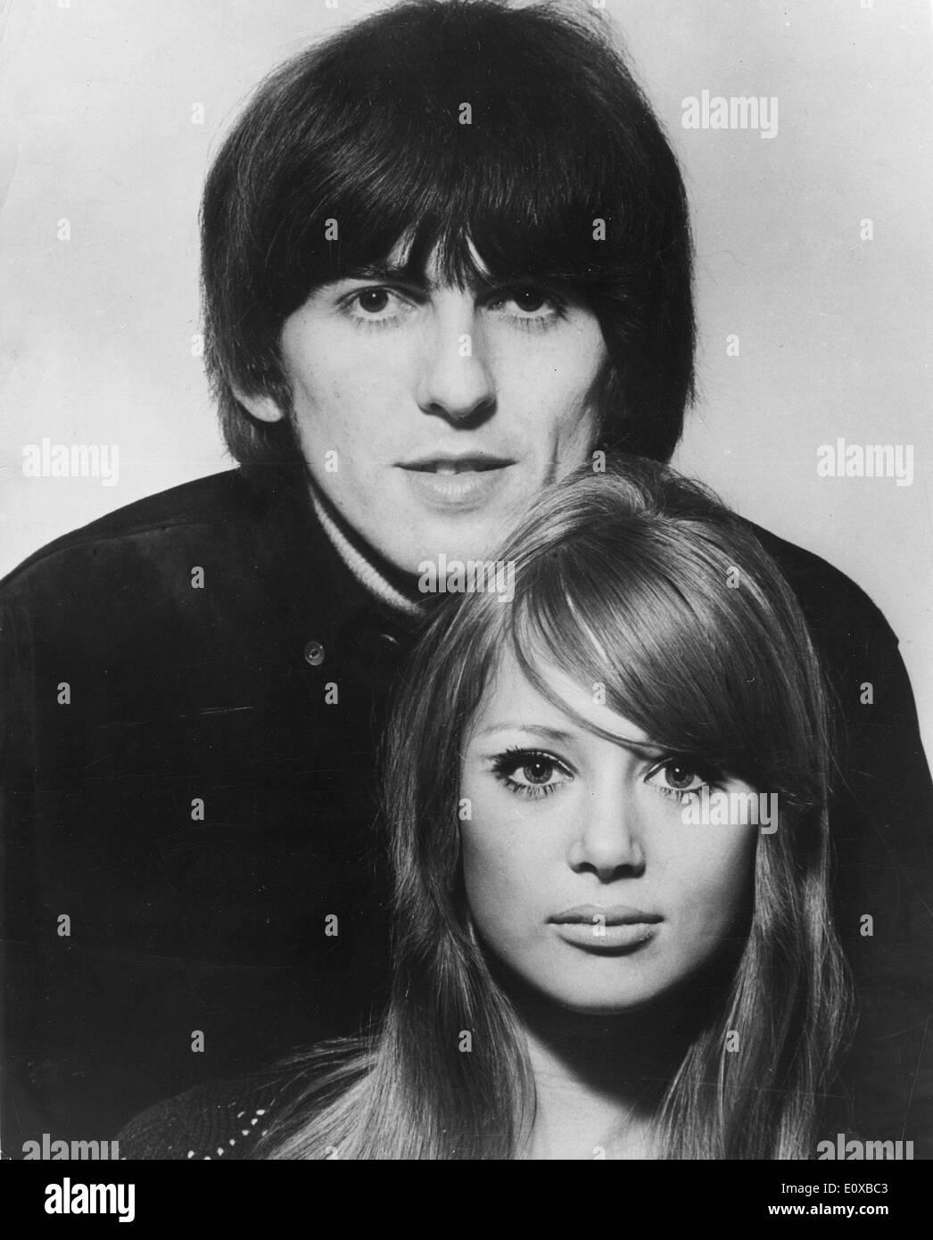 Beatles member George Harrison marries Pattie Boyd - Stock Image
