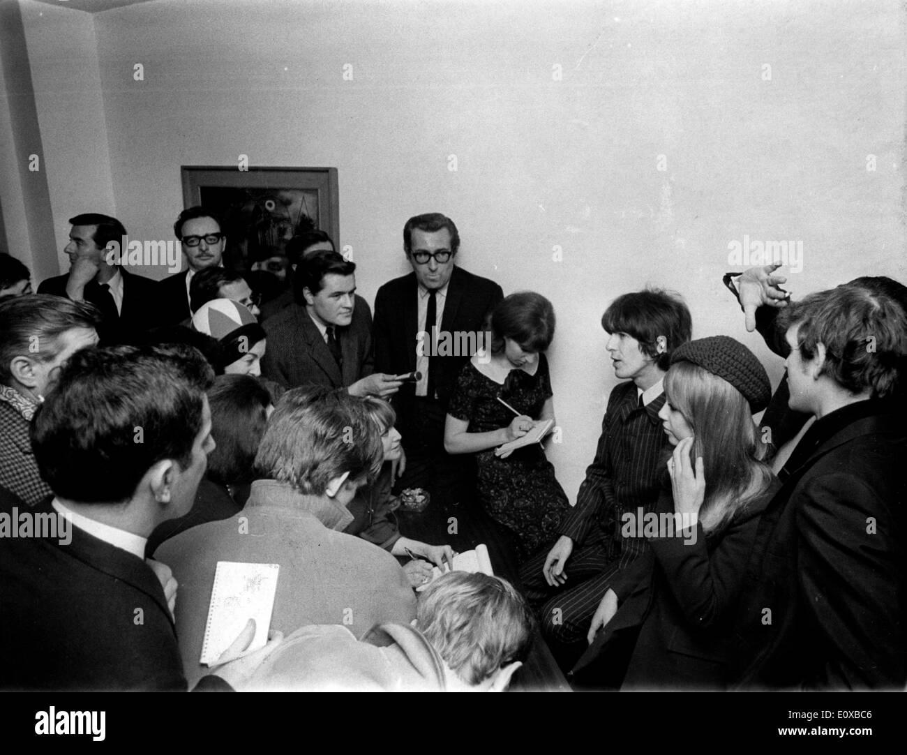 Beatles Guitarist George Harrison weds - Stock Image