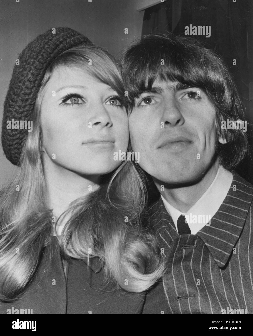 Beatle George Harrison with wife Pattie Boyd - Stock Image