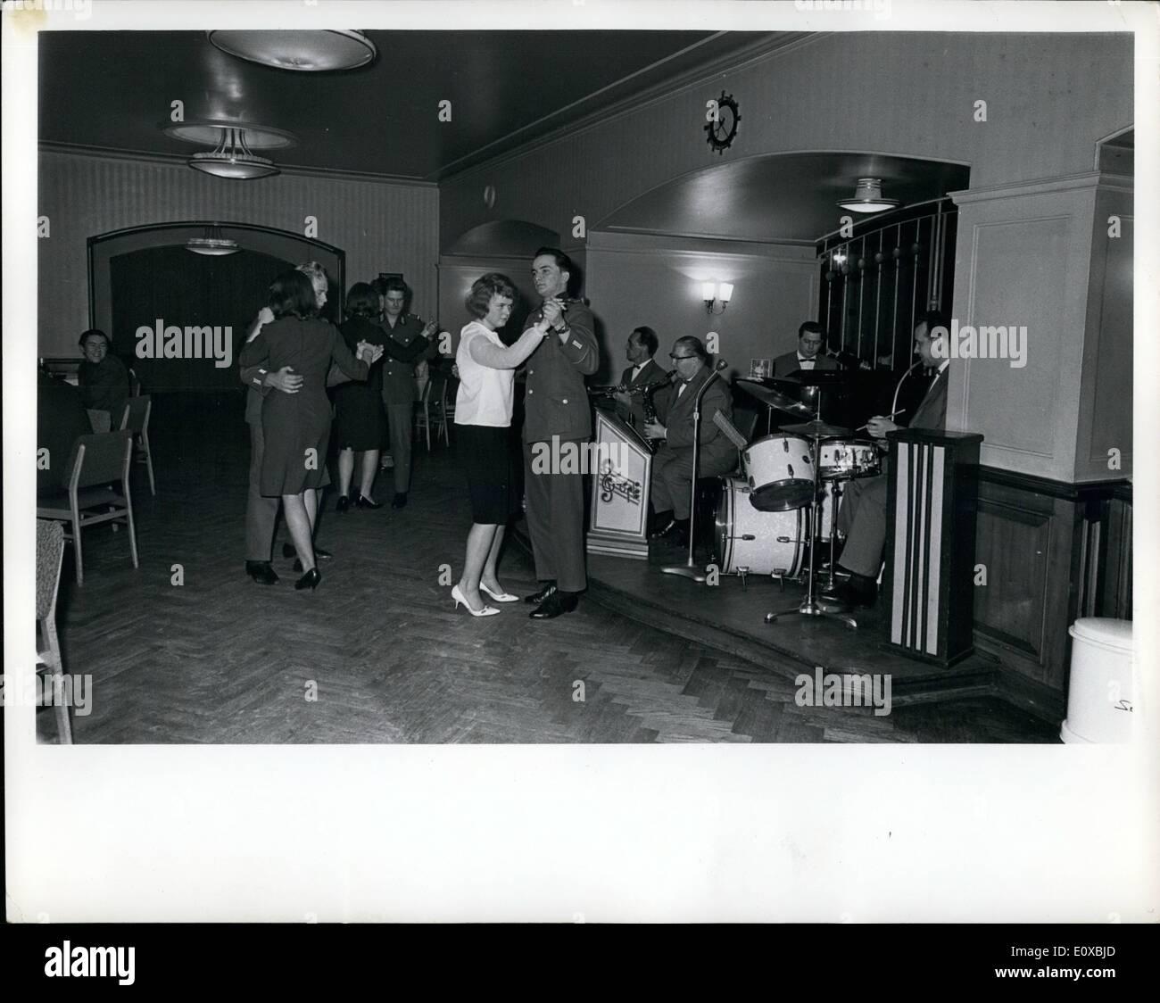 Mar. 03, 1966 - East German ''People's Army'' soldiers dancing at Frankfurter Tor'' Restaurant. - Stock Image