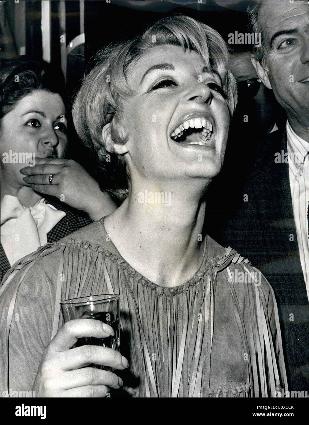 Apr. 04, 1966 - Barbra Streisand unable to appear. 600 of the audience walked out of a west end theater last night because American star Barbara Streisand was unable to appear. She dropped but of the hit musical ''Funny girl'' with an attach of gastric flu the walkout began after ester Michael Craig. Miss Streisand's co-star, announced from the stage that she would not appear - Stock Image