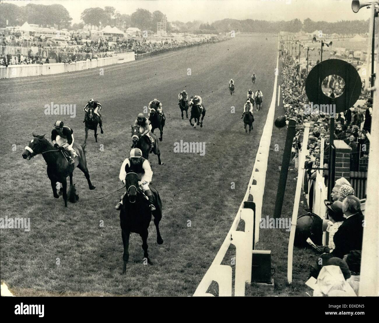 May 05, 1966 - Irish horse ''Valoris'' wins the richest -ever oaks - worth £35,711 - at Epson today.: PhotoStock Photo