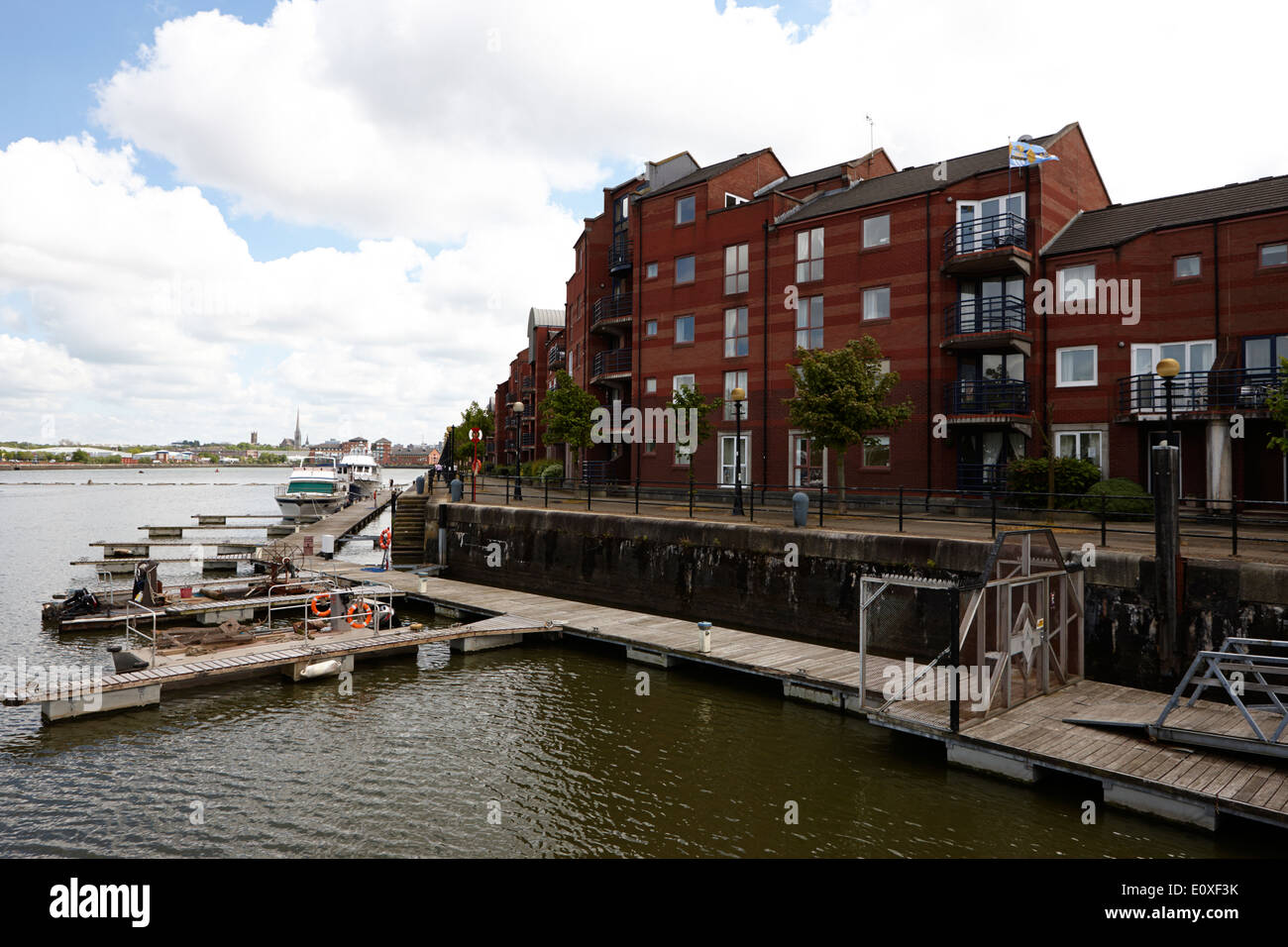 princes reach in edward albert dock in Riversway Preston docklands marina England UK - Stock Image