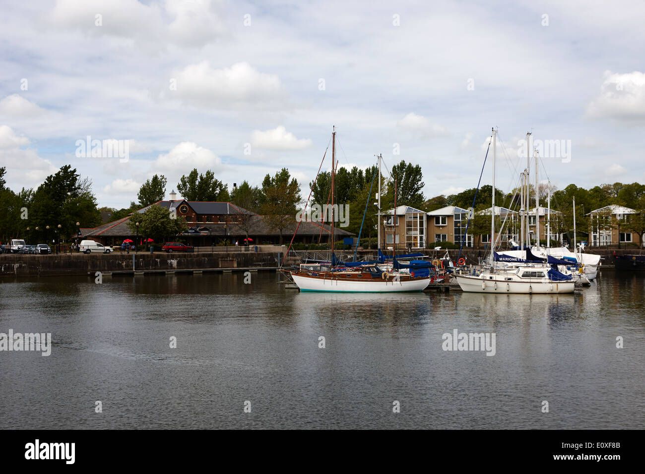 edward albert dock in Riversway Preston docklands marina England UK - Stock Image