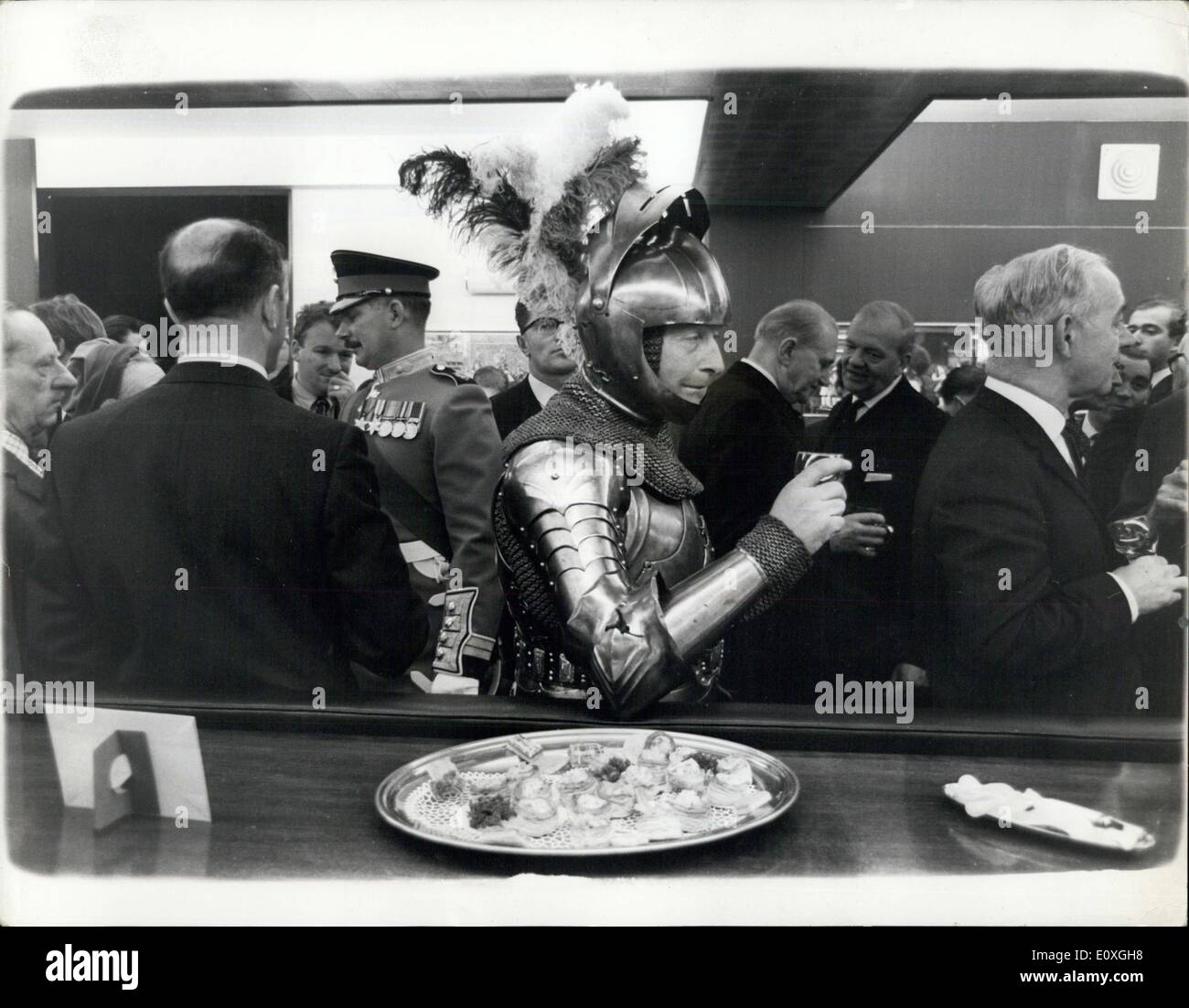 Dec. 03, 1966 - The Knight In Shining Armour In A Modern World: Mr. Michael Pelly caused a sensation yesterday in - Stock Image