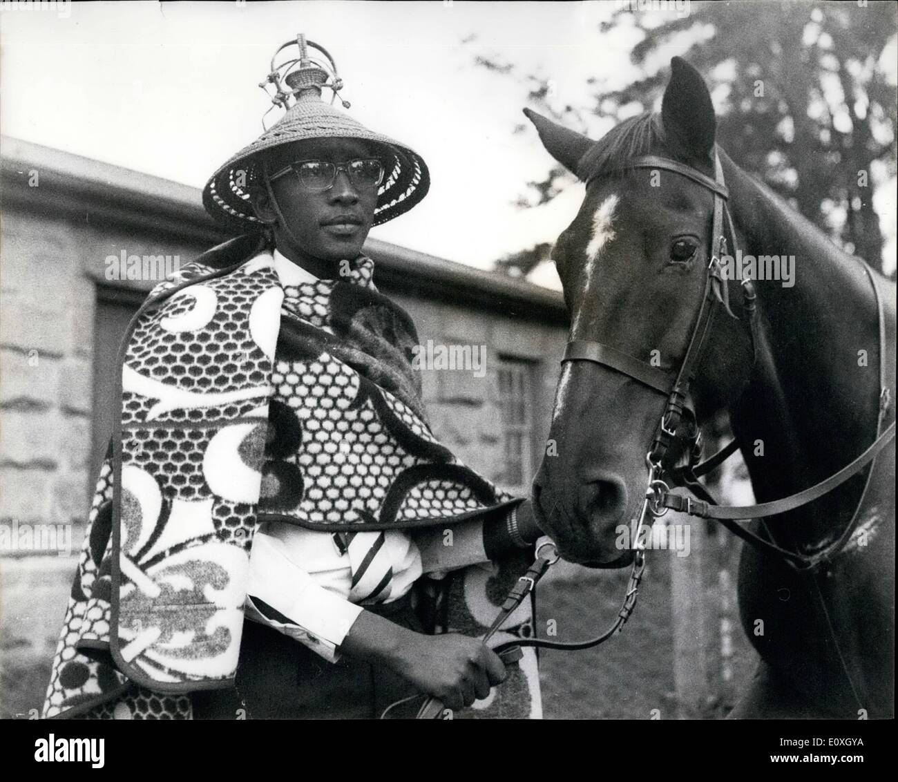 Dec. 12, 1966 - A King Is Put Under Arrest. A Prime Minister placed his young king under house arrest - King Moshoeshoe - Stock Image