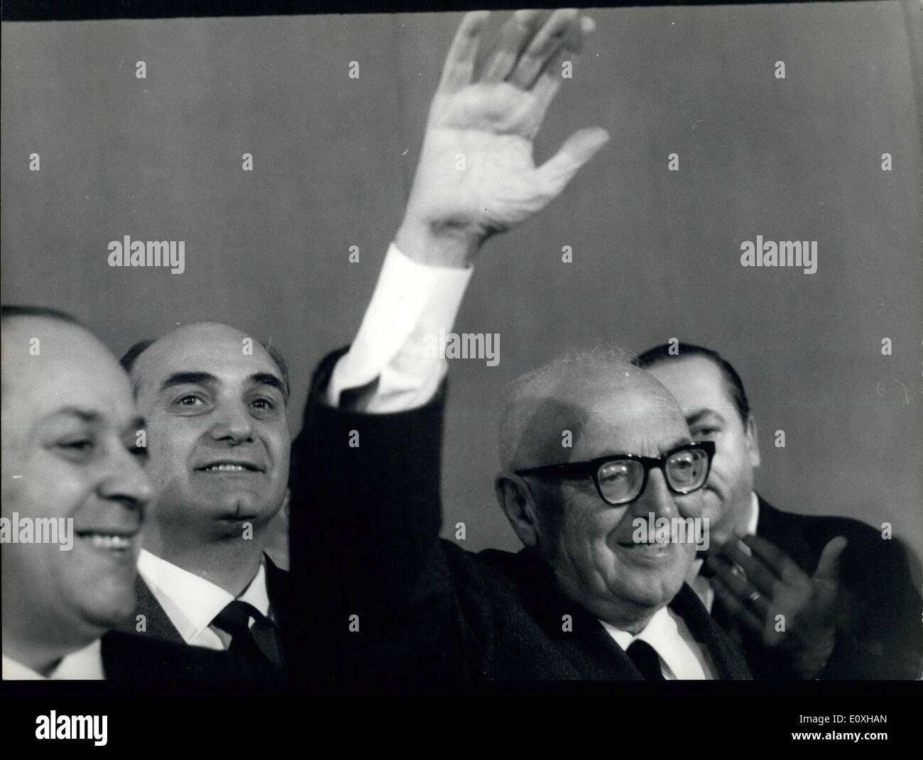 Oct. 10, 1966 - Socialists at conference. The Socialists of Democratic Party ( the same of Presi dent of the Republica Scragat) - Stock Image