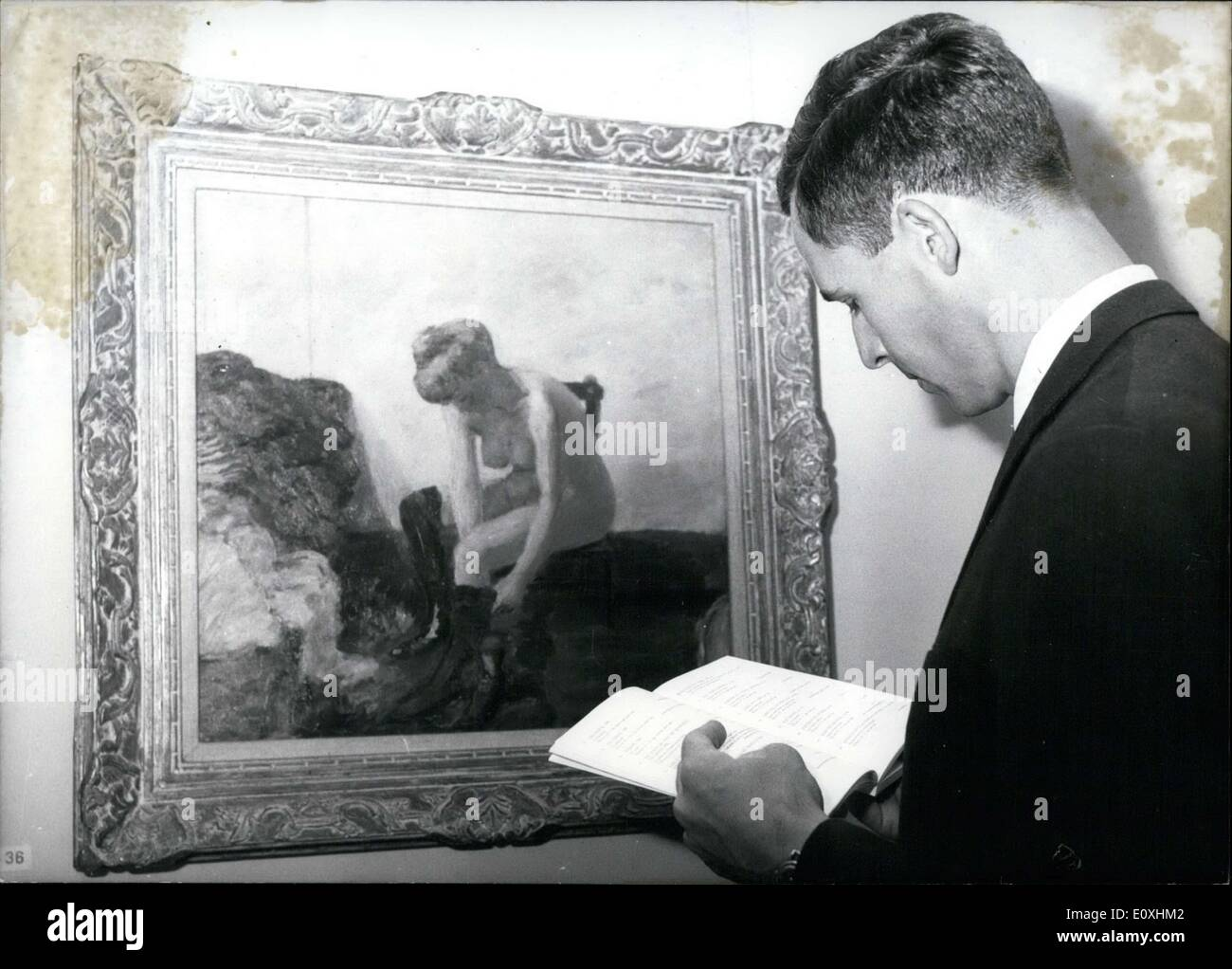 Oct. 22, 1966 - An exhibition of famed French painter Pierre Bonnard was shown at the Munich House of Art on the anniversary of - Stock Image