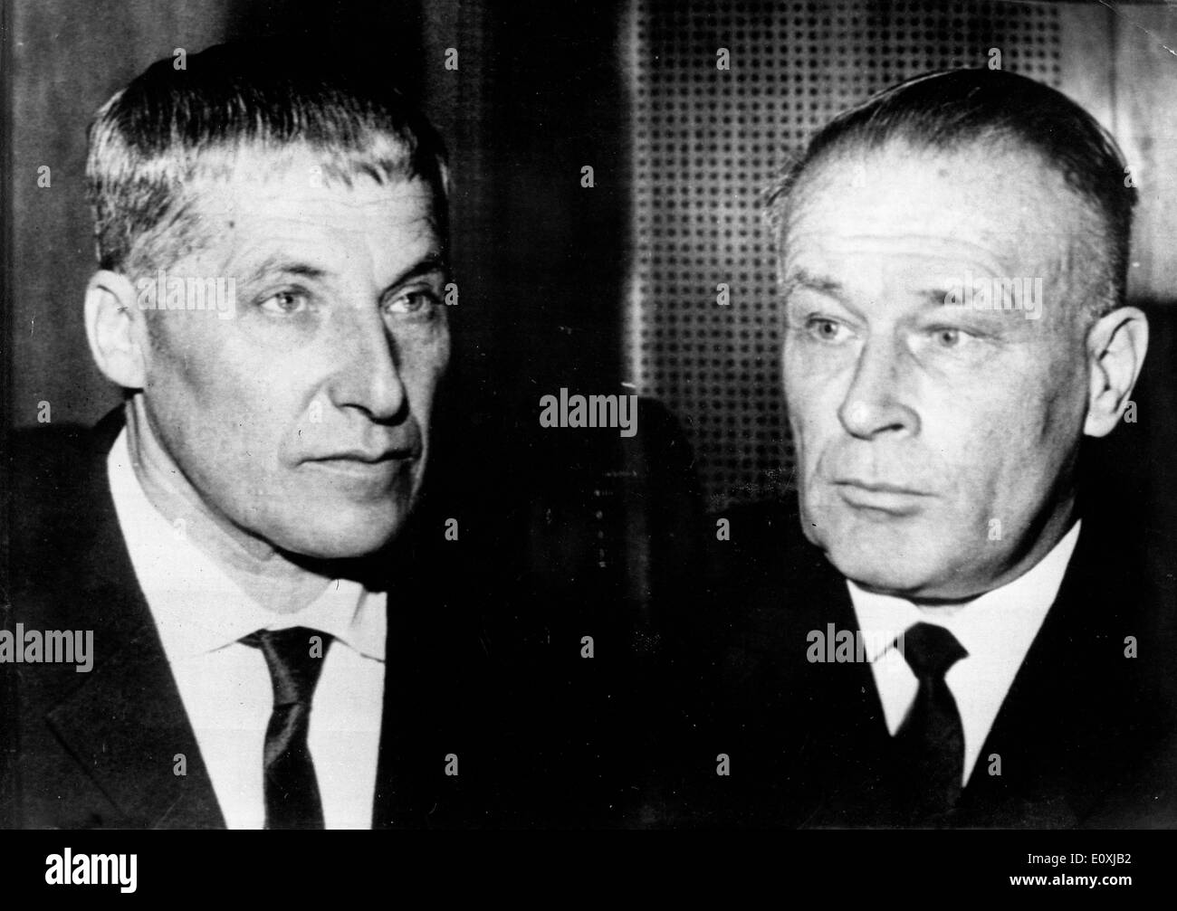 Wilhelm Zoepf and Dr. Wilhelm Harster during their trial Stock Photo