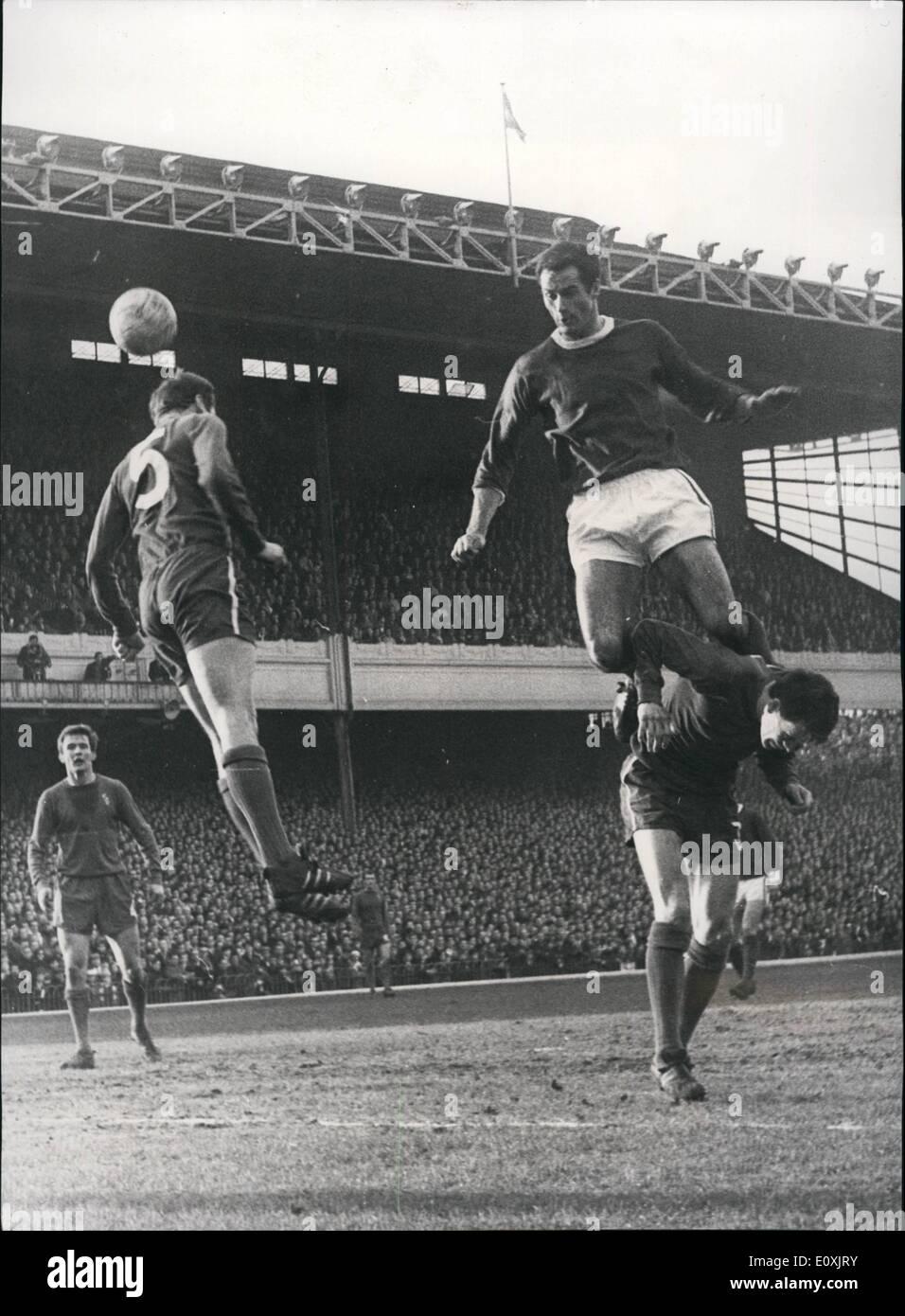 Feb. 02, 1967 - Arsenal V Chelsea. Photo Shows Graham the Arsenal ...