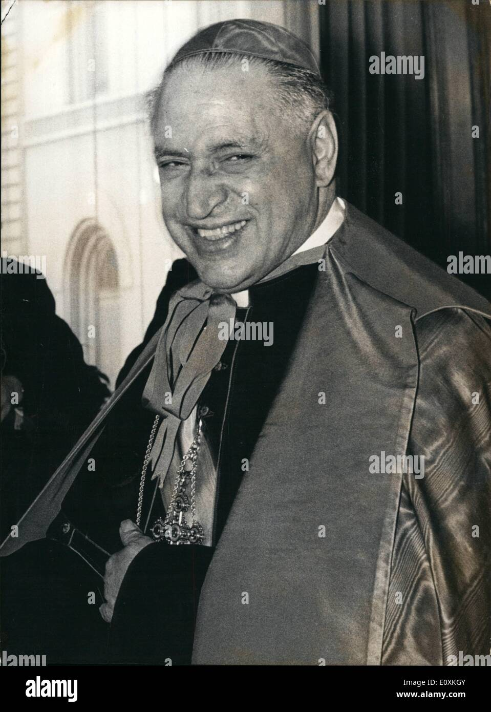 May 05, 1967 - Among the 27 designated cardinals. the apostolic nuncio in Berno, Mgr. Alfredo Pacini (Italian). Through him, Switzerland holds a close and warm relationship with the Vatican. - Stock Image