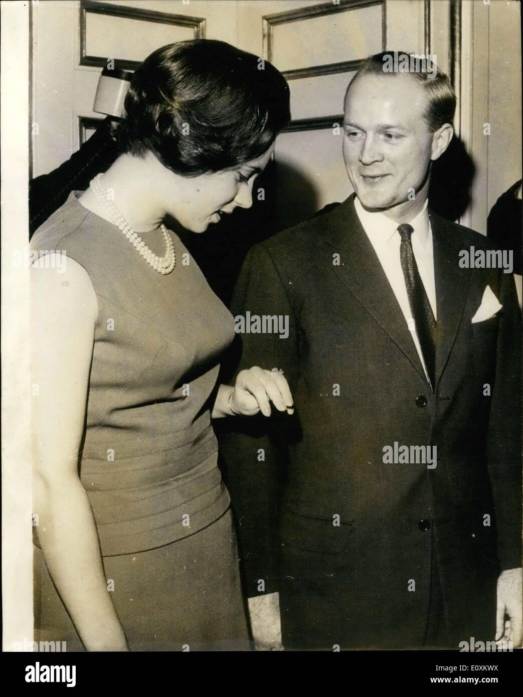 Mar. 14, 1967 - : Princess Benedikte, second oldest daughter of the King and Queen Denmark, has become engaged to German Prince - Stock Image