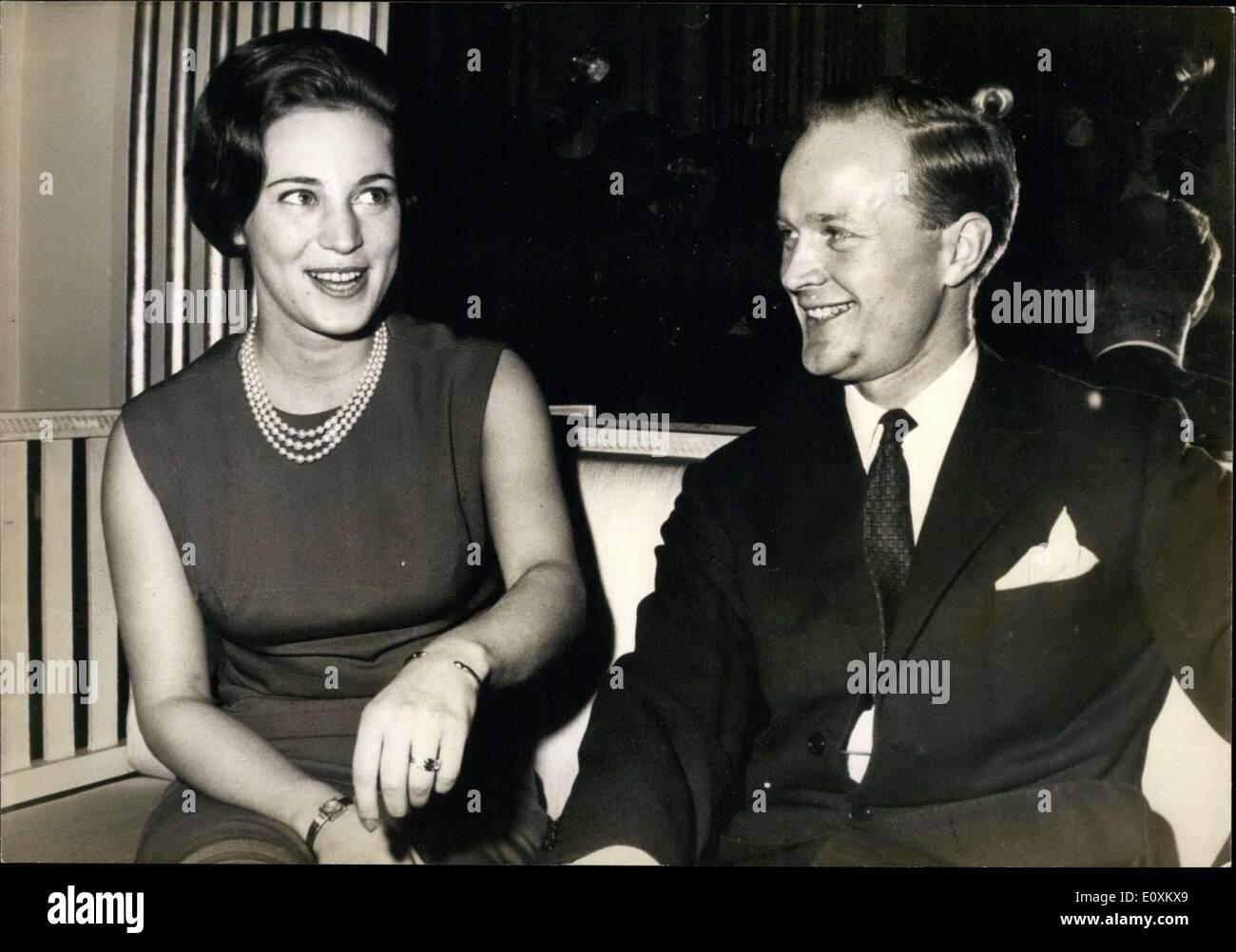 Mar. 15, 1967 - Princess Benedikte and Fianc?, Prince Robert - Stock Image
