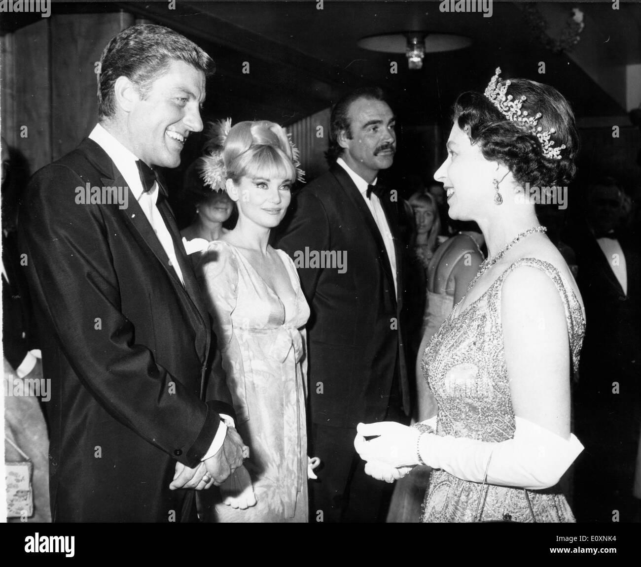 Actor Dick Van Dyke meets the Queen at a World Charity Premiere